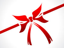 Abstract red shiny ribbon vector illustration Stock Images
