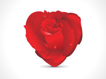 Abstract red shiny rose heart Royalty Free Stock Photo