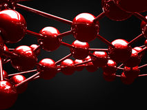 Abstract Red Shiny Spheres Background Royalty Free Stock Photography