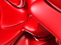 Abstract red silk chaotic glossy background Stock Photography