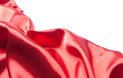 Abstract red silk fabric Royalty Free Stock Photos