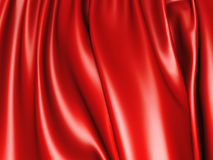 Abstract red silk folds glossy background Stock Photos