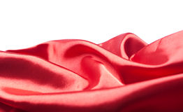 Abstract red silk or satin fabric Royalty Free Stock Photos