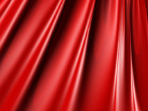Abstract Red Silk Shiny Fabric Texture Background. 3d Render Illustration Stock Photos