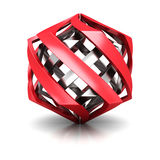 Abstract Red Silver Business Icon Stock Photos