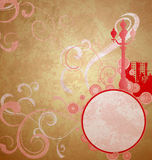Abstract red sity retro vintage background Stock Image