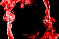 Abstract red smoke on black background Royalty Free Stock Image