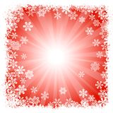 Abstract red snowflake background Royalty Free Stock Image