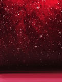 Abstract red snowy Christmas background Royalty Free Stock Photo