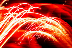 Abstract Red Sparkling Firework Line used as Background Stock Image