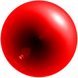 Abstract red sphere with shadow and glare. Isolated Stock Photos