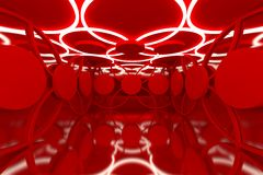 Abstract red sphere wall Royalty Free Stock Image