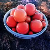 Abstract Red Spheres With Blue Ring Stock Photography