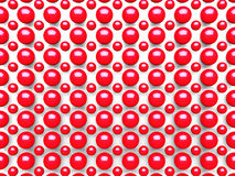 Abstract Red Spheres Pattern Background. 3d Render Illustration vector illustration