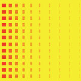Abstract red square on yellow background Stock Photography