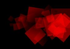 Abstract red squares tech vector background Stock Images