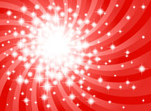 Abstract red star background. Vector illustration of a abstract red star background Royalty Free Stock Images