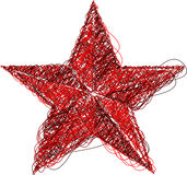 Abstract red star icon. Isolated on white background vector illustration Stock Photo