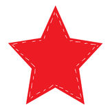 Abstract red star on white background Royalty Free Stock Photography