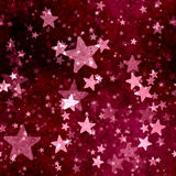 Abstract red stars background Royalty Free Stock Photos