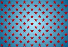 Abstract red stars on blue background Royalty Free Stock Images
