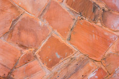 Abstract red stone wall pattern Stock Photography