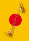 Abstract  Red sun. Abstract illustration dedicated to the asian world Stock Photos