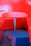 Abstract Red Table Stock Image
