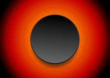 Abstract red tech background with black circle Stock Photos