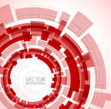 Abstract red technical background Royalty Free Stock Images
