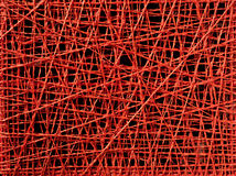 Abstract red thread texture of irregular lines Stock Images