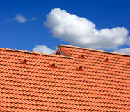 Abstract red tiled roof Royalty Free Stock Photography