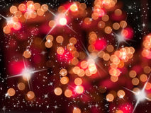 Abstract of red tone bokeh Stock Photography