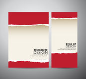 Abstract red Torn paper. Graphic resources design template. Royalty Free Stock Photos
