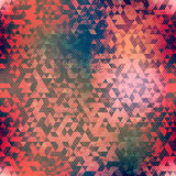 Abstract red triangle seamless pattern with grunge effect Royalty Free Stock Photo
