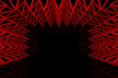 Abstract red triangle truss wall Royalty Free Stock Photo