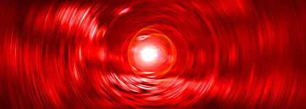 Abstract red tunnel background. Light at the end of abstract red radial tunnel Stock Photos
