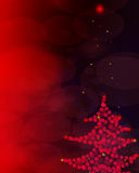 Abstract red twinkled christmas background Stock Images