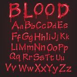 Abstract red Vector blood alphabet. Royalty Free Stock Photos