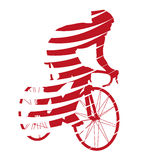 Abstract red vector cyclist Stock Image