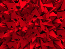 Abstract Red Wall Design Background. 3d Render Illustration Royalty Free Stock Photos