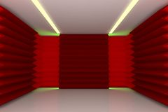 Abstract red wall in empty room Royalty Free Stock Images