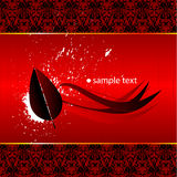 Abstract red wallpaper stock illustration