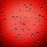 Abstract red water drop background stock photos