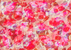 Abstract red watercolor background. With flowers stock illustration