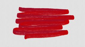 Abstract red watercolor paint brush stroke Royalty Free Stock Photos