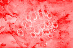 Abstract red watercolor valentines day background on paper textu Royalty Free Stock Photos