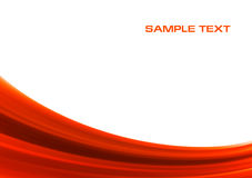 Abstract red wave background. With copyspace Stock Images