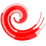 Abstract red wave. Raster Stock Image