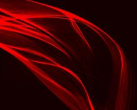 Abstract red waves on the dark background. stock illustration